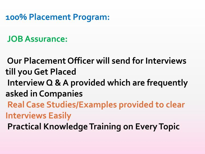 100% Placement Program: