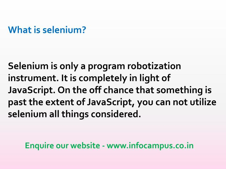 What is selenium?