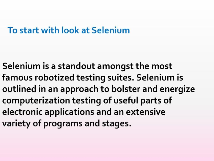 To start with look at Selenium