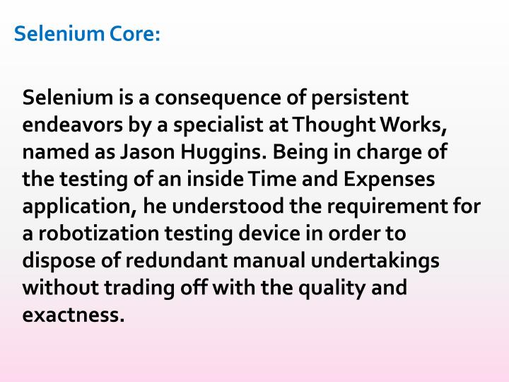 Selenium Core: