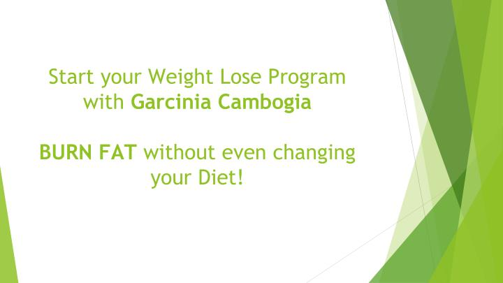 Start your Weight Lose Program with