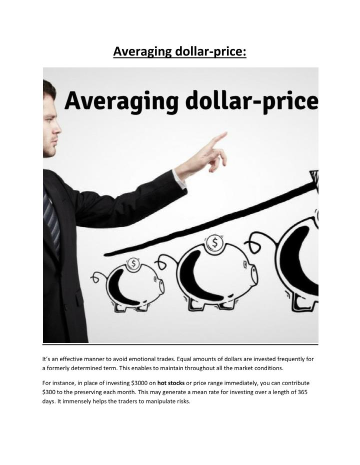 Averaging dollar-price: