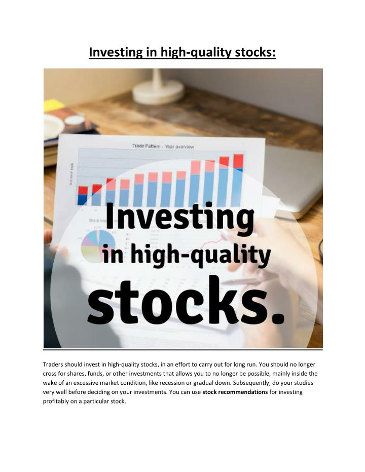 Investing in high-quality stocks: