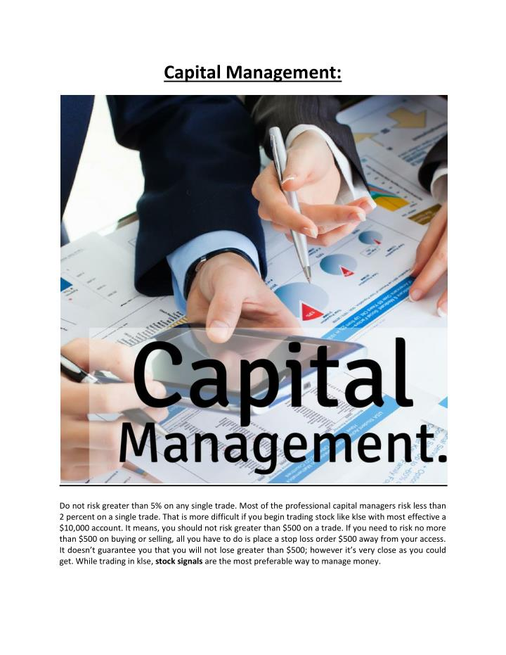 Capital Management: