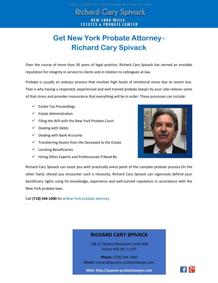 Get New York Probate Attorney
