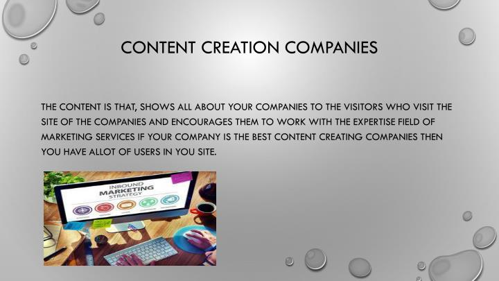 Content Creation Companies
