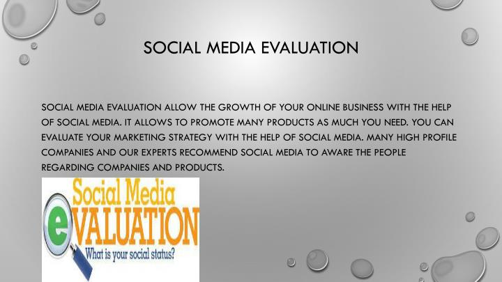 Social Media Evaluation