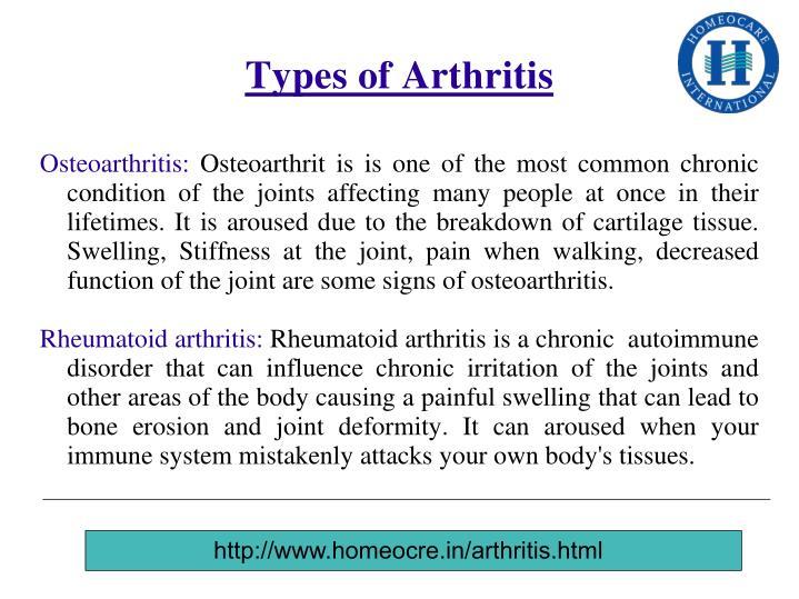 Types of Arthritis