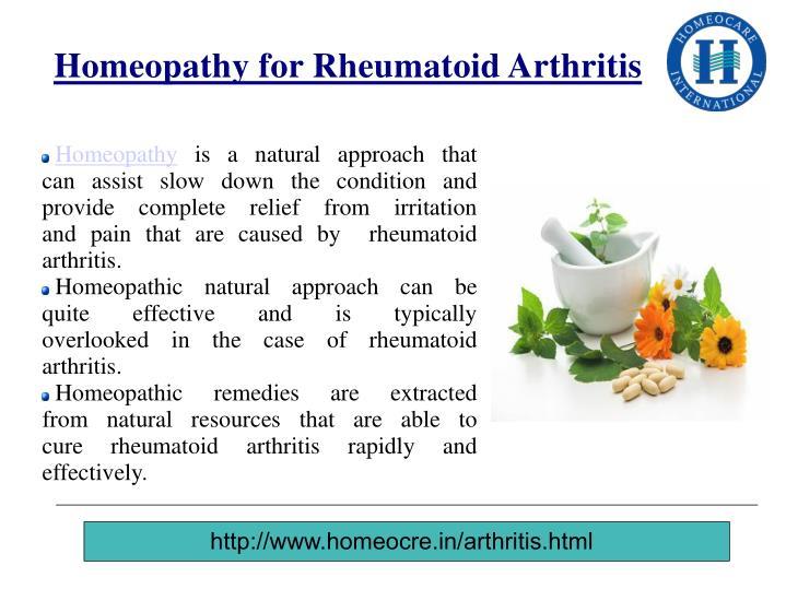 Homeopathy for Rheumatoid Arthritis
