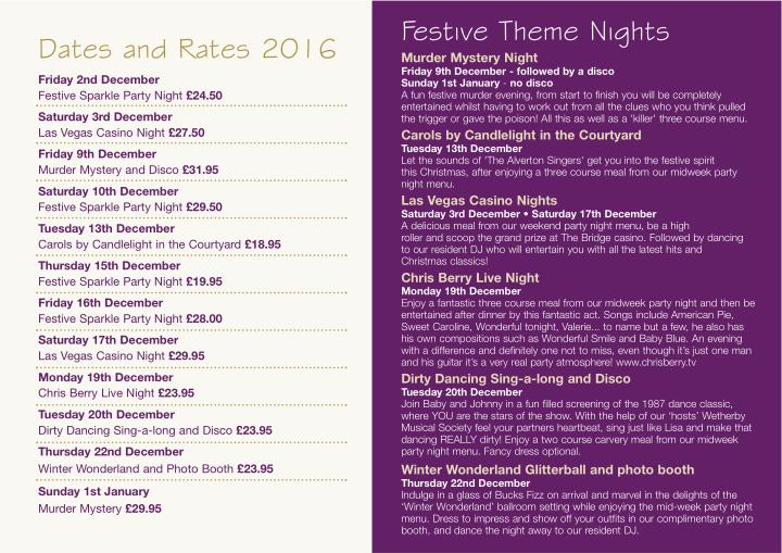 Festive Theme Nights