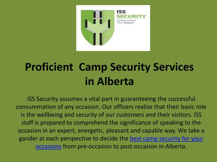 proficient camp security services in alberta
