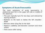 symptoms of acute pancreatitis