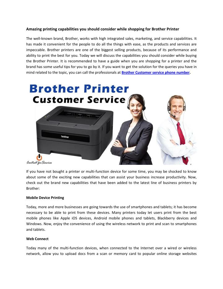 Amazing printing capabilities you should consider while shopping for Brother Printer