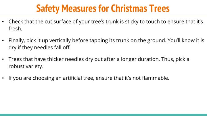 Safety Measures for Christmas Trees
