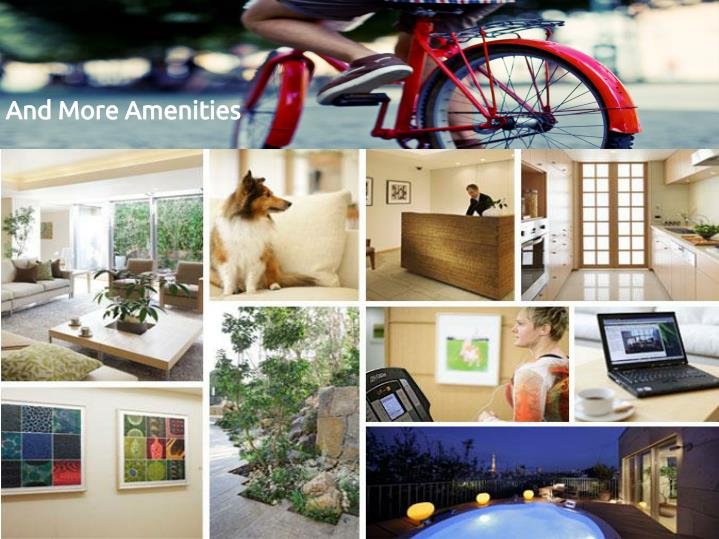 And More Amenities