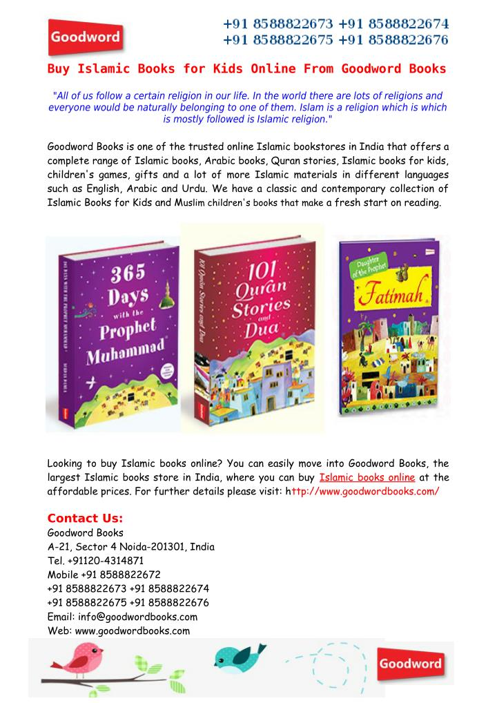 Buy Islamic Books for Kids Online From Goodword Books