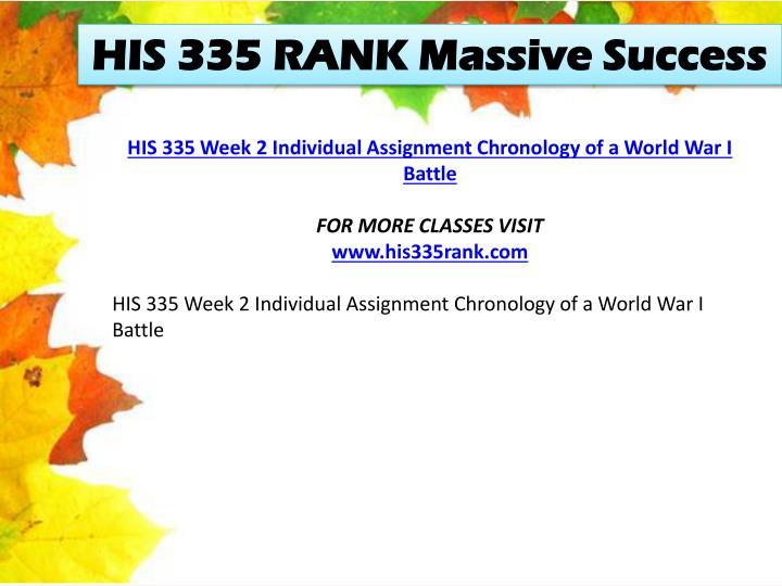 HIS 335 RANK Massive Success