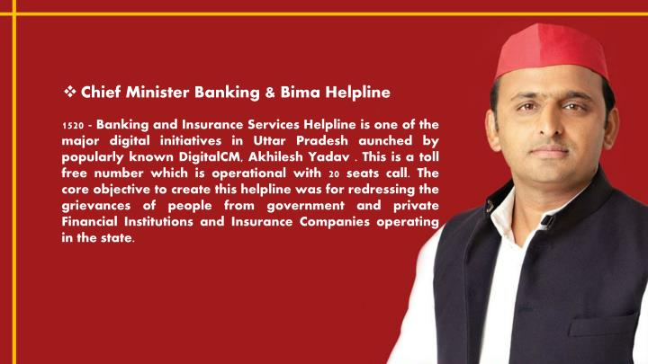 Chief Minister Banking &