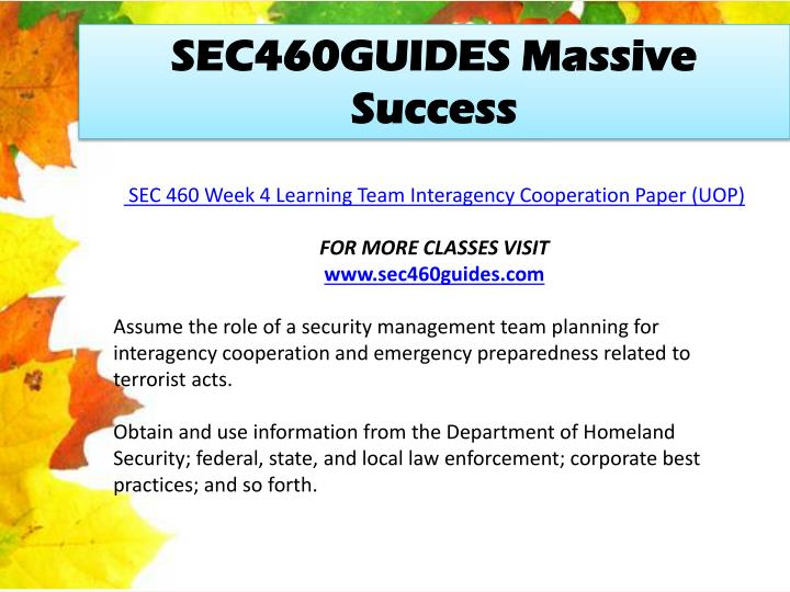 SEC460GUIDES Massive Success