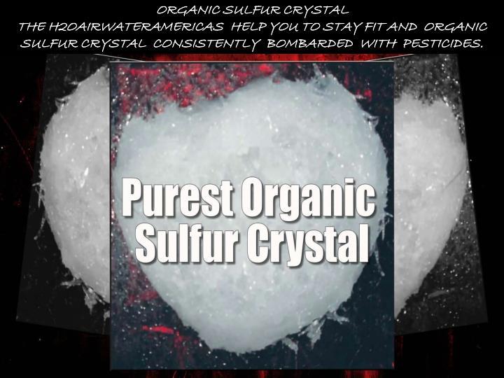 organic sulfur crystal