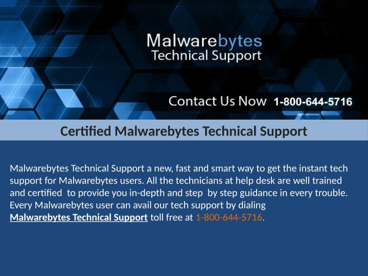 Certified Malwarebytes Technical Support