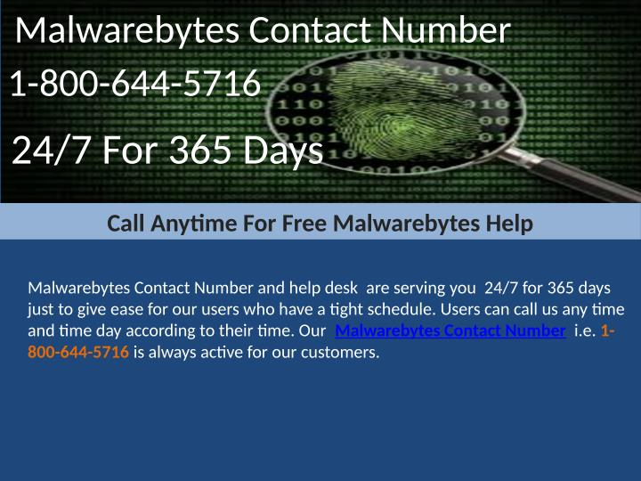 Malwarebytes Contact Number