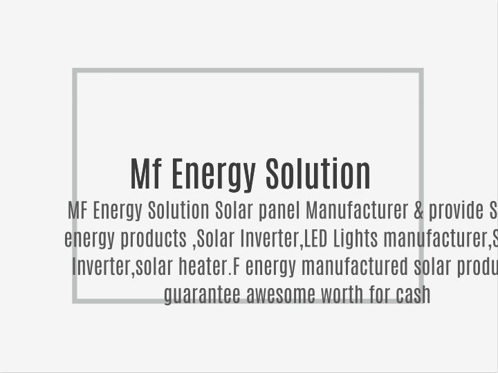 Mf Energy Solution