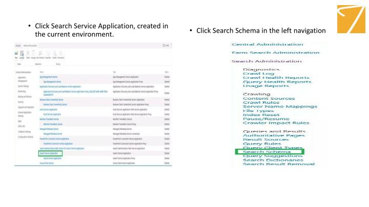 Click Search Service Application, created in the current environment.