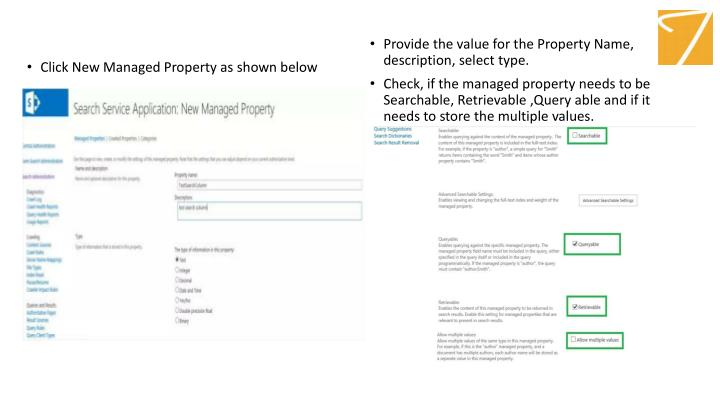 Click New Managed Property as shown below