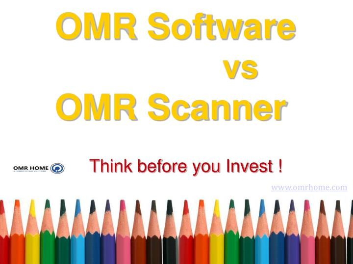 Omr software vs omr scanner