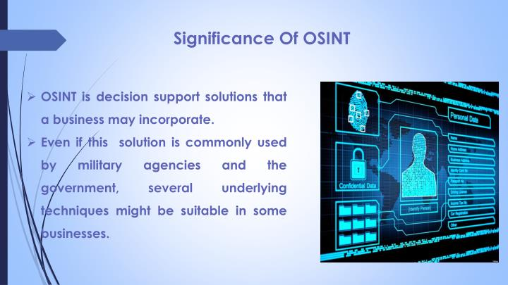 Significance Of OSINT