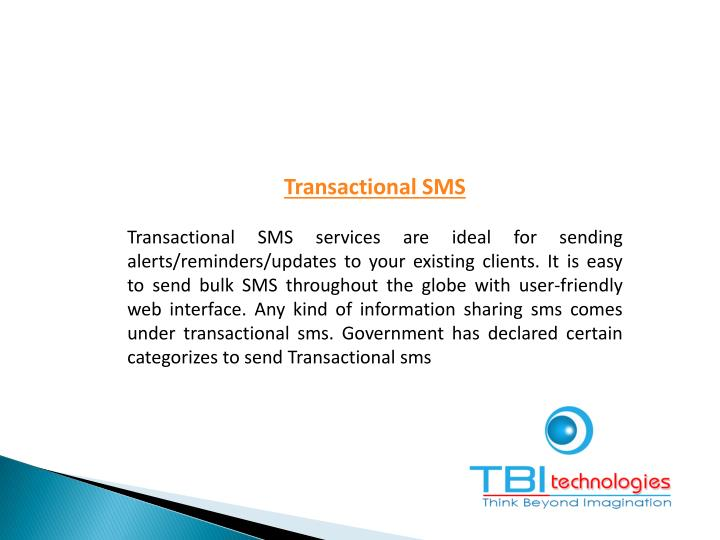 Transactional SMS