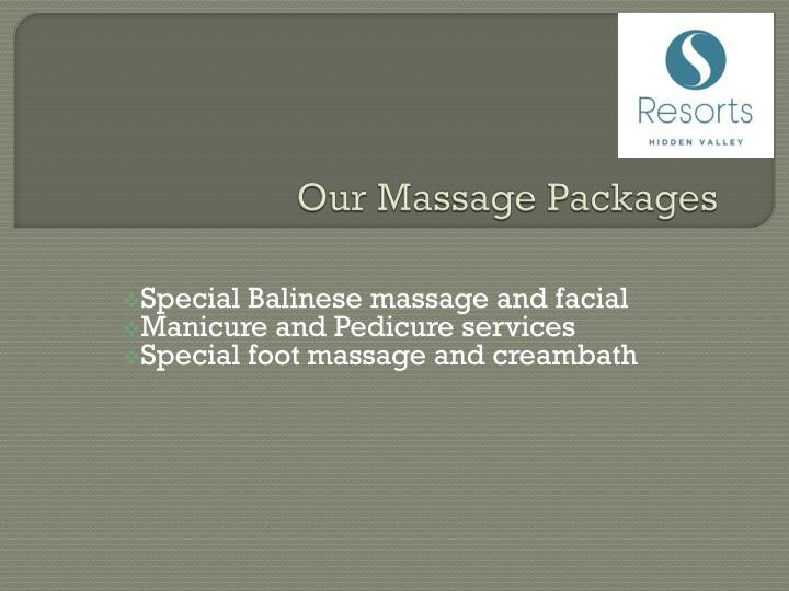 Our Massage Packages