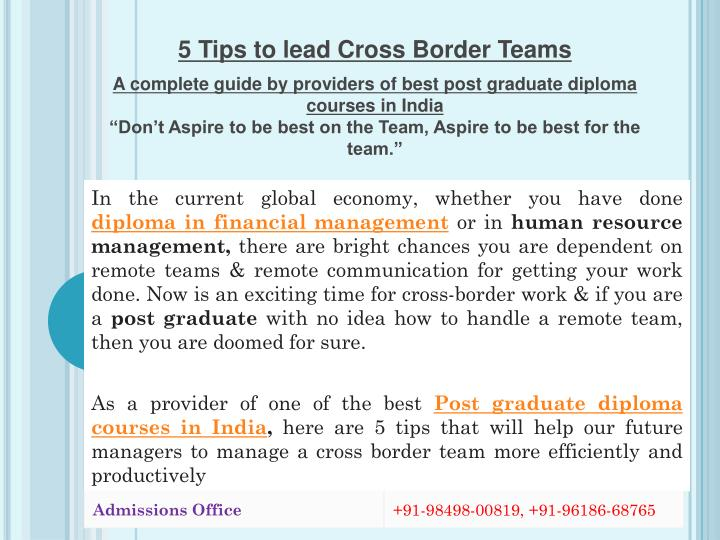 5 Tips to lead Cross Border Teams