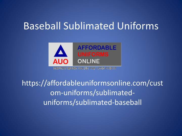 Baseball sublimated uniforms