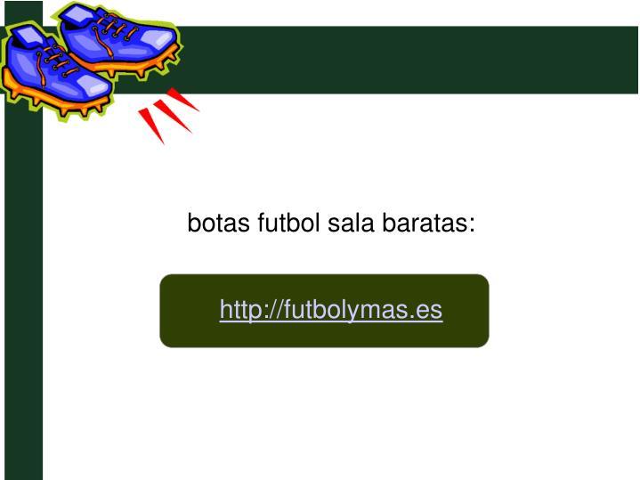 botas futbol sala baratas: