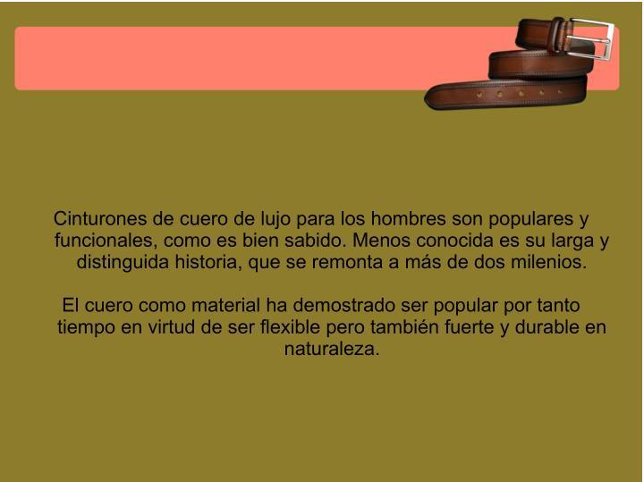 Cinturones de cuero de lujo para los hombres son populares y