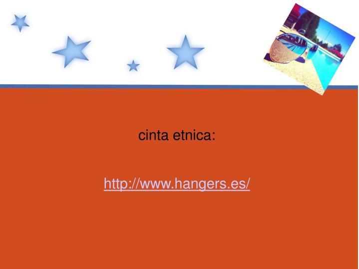 cinta etnica: