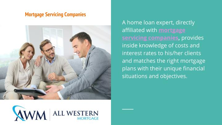 Mortgage servicing companies