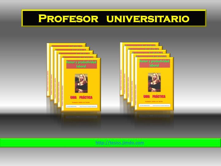 Profesor   universitario