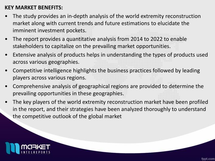 KEY MARKET BENEFITS: