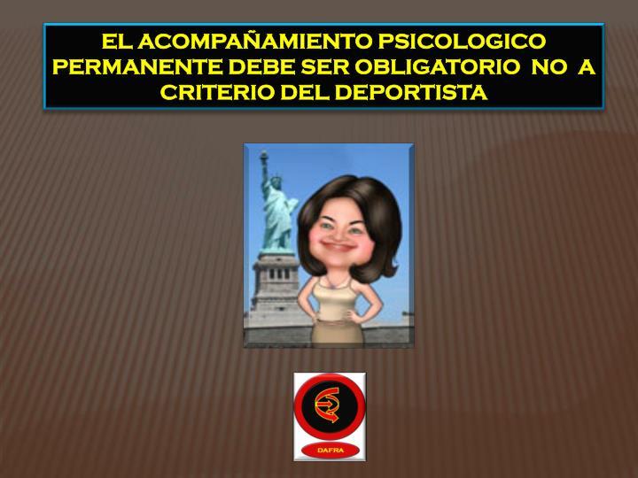 EL ACOMPAÑAMIENTO PSICOLOGICO
