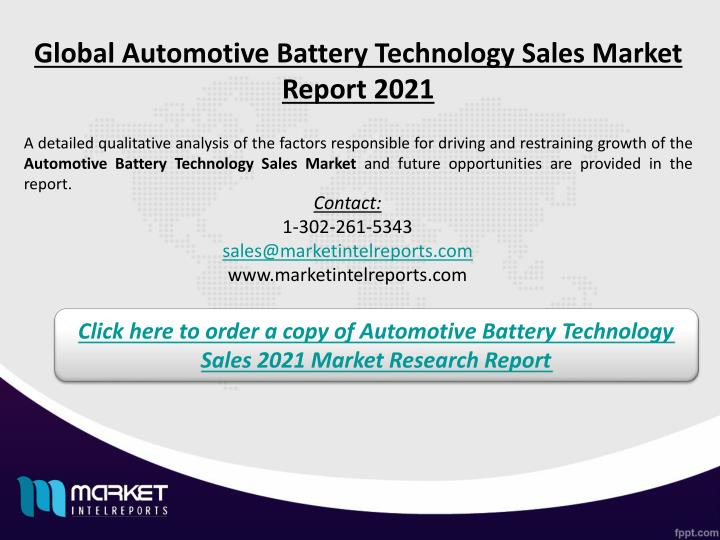 Global Automotive Battery Technology Sales Market Report 2021