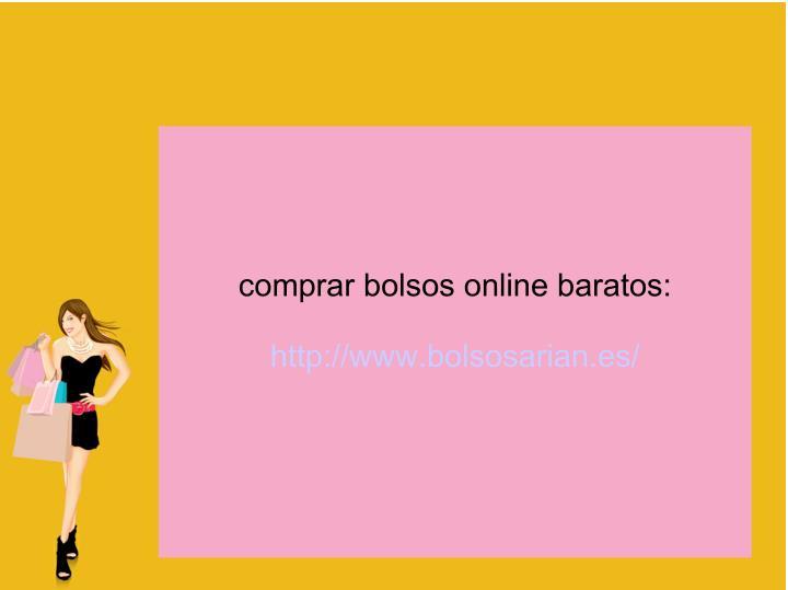 comprar bolsos online baratos:
