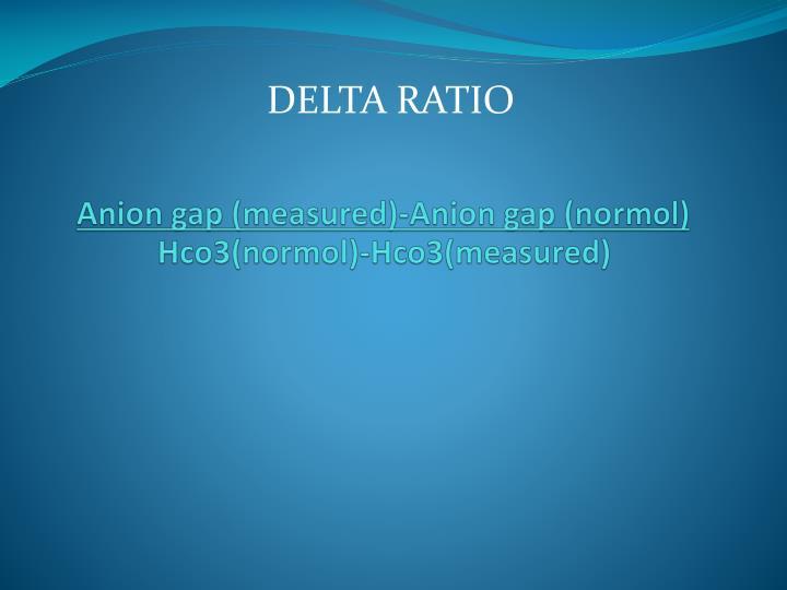 Anion gap (measured)-Anion gap (
