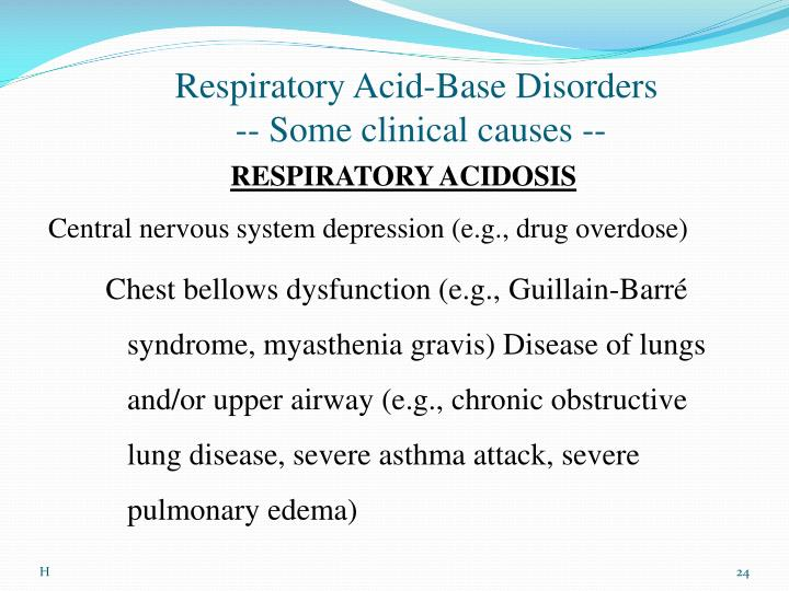 Respiratory Acid-Base Disorders