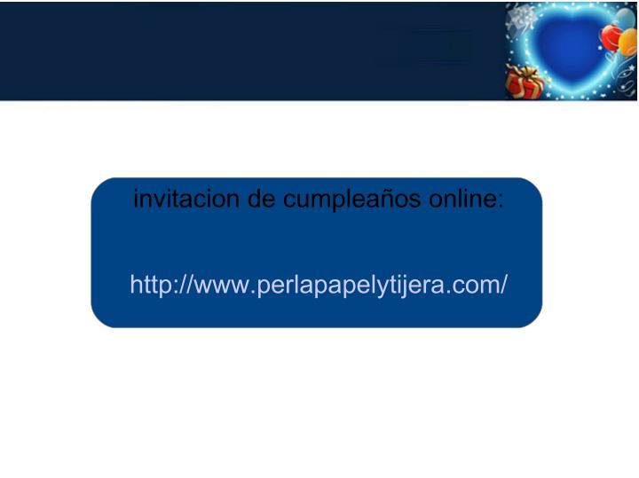 invitacion de cumpleaños online: