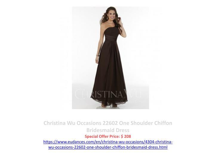 Christina Wu Occasions 22602 One Shoulder Chiffon Bridesmaid Dress