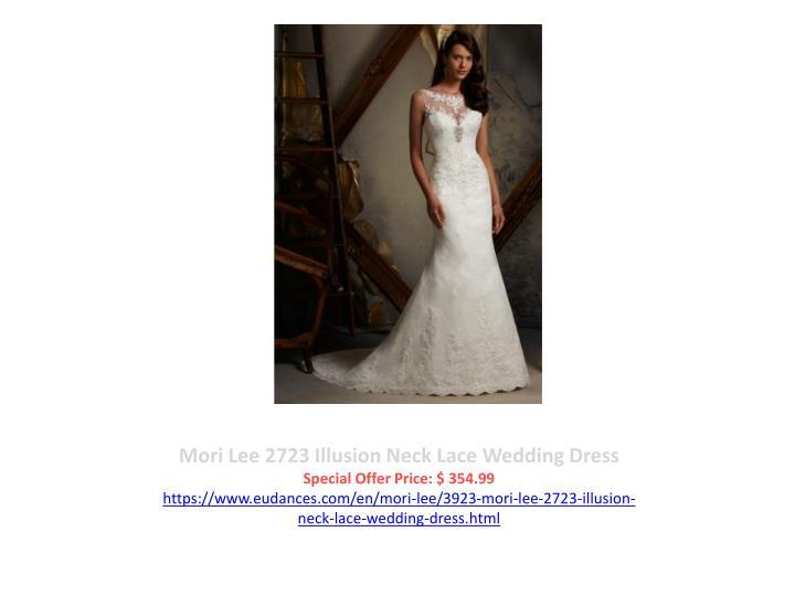 Mori Lee 2723 Illusion Neck Lace Wedding Dress