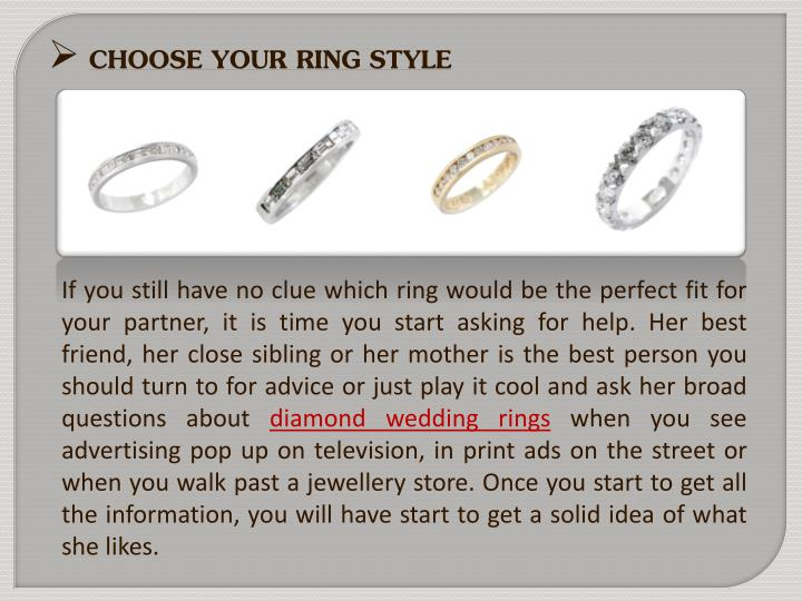 CHOOSE YOUR RING STYLE